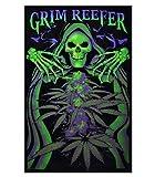Grim Reefer Marijuana Pot Blacklight Poster Print 24 x 36in by Opticz