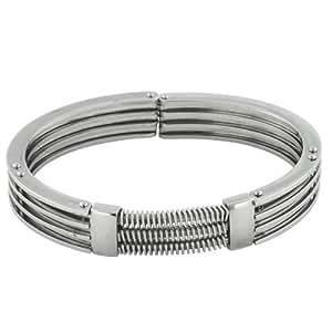 Pugster Bijoux Stainless Steel Bracelet homme argent Bracelet Stainless Steel Bracelet homme argent Cuff Mens Bracelet BRC_M389