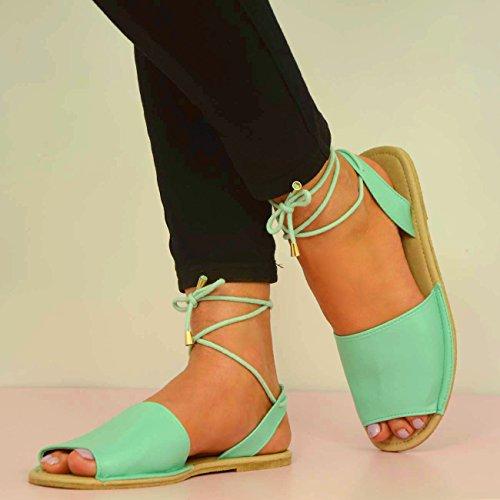 Cucu Fashion - Strap alla caviglia donna Verde (verde)