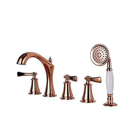 Bath/Shower Mixer with five piece of cover/Shower head sit /Cylinder type hot and cold taps-C