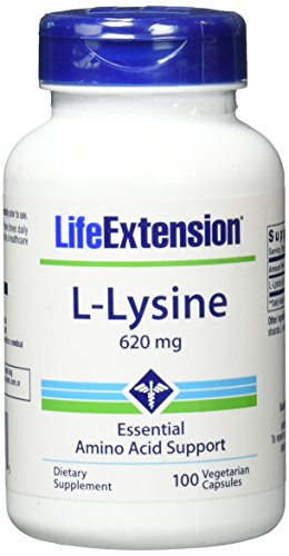 Life Extension , L-Lysine ( Lysin ) , 620 mg , 100 Kapseln , hochdosiert , Vegetarisch , ohne Gentechnik