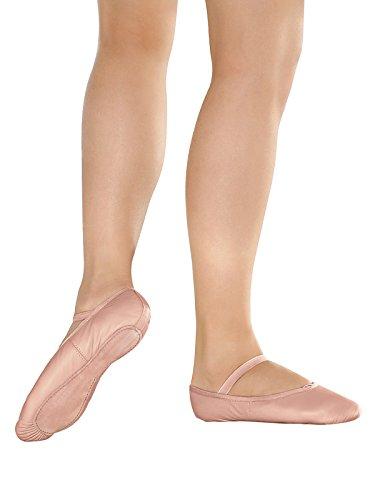 BAE14 Weite M - mittlere Weite - Ballettschläppchen Leder Weiß