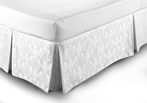 Montaggio Facile mantovana Bianco Misura Letto Matrimoniale in Stile Damascato Bianco