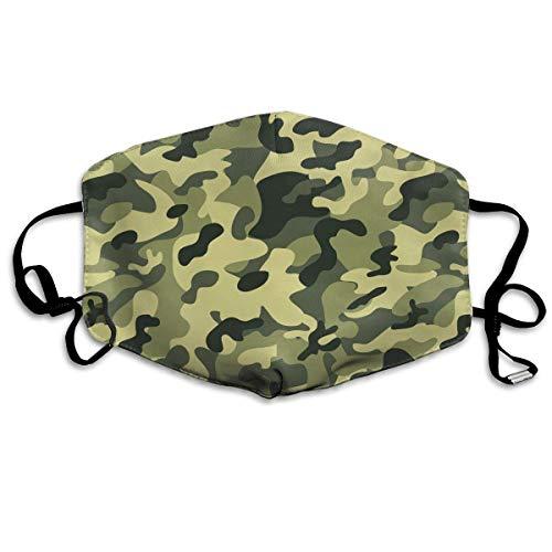 Camo Hockey Maske - Vbnbvn Unisex Mundmaske,Wiederverwendbar Anti Staub Schutzhülle,Army