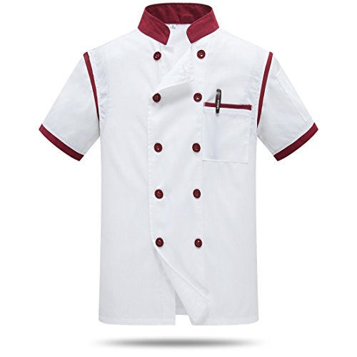 Cocina Uniforme Camisa Cocinero Manga Corta La Red