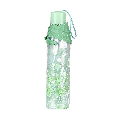 YA-Uzeun Regenschirm, schützt vor UV-Strahlen und Regen grün