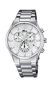 Lotus 10125/1 - Reloj de pulsera hombre, Acero inoxidable, color Plateado