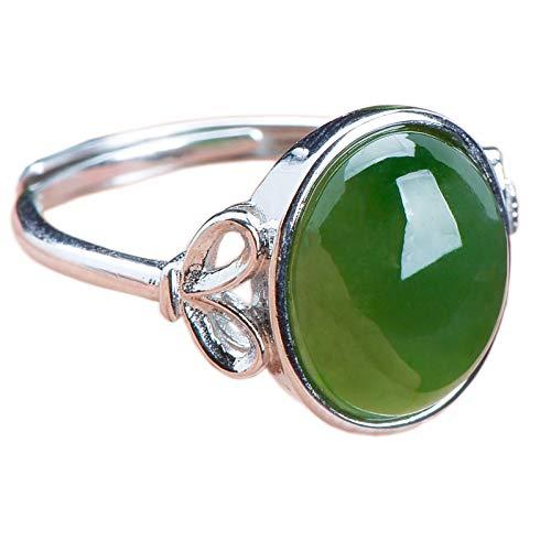 Mayanyan S925 Silber Natur- und Hetian Jade Jaspis Intarsien Leben verstellbare tragen Größe Ring Schmuck Geschenke