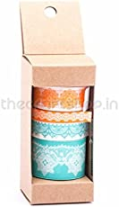 Craftreat Lace Washi Tape Set And Dispenser 4Pcs