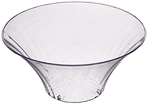 Amscan 23.3 cm Large Plastic Flared Bowl, Clear