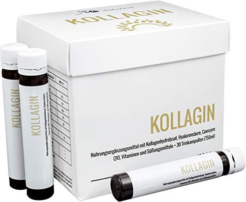Kollagin - Kollagen Trinkampullen - 30 Trinkampullen mit VERISOL Kollagen Q10 Hyaluronsäure Zink Und Vitaminen Für Schöne Gesunde Haut