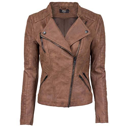 ONLY NOS Damen Jacke onlAVA Faux Leather Biker OTW NOOS Grün Chinois Green, (Herstellergröße: 34)