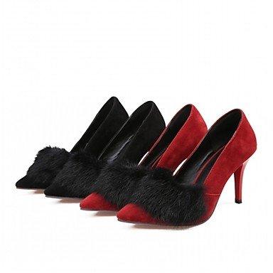 Ferse Herbst Schwarz Rot Frühling Fersen amp; Frauen Karriere Lfnlyx Stiletto Casual Büro Black Kleid Komfort Kunstleder O6f7wtx