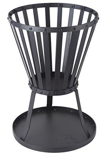 garten kaminofen Feuerkorb Kaminofen schwarz beschichtet Höhe 50 cm