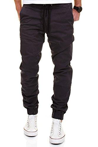 Merish Chino Jeans Jogging Hose Herren Jogger Pants Stoffhose J2054  Anthrazit 32 32 6bdee68734
