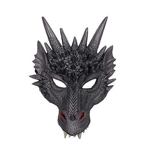 Kostüm Drachen Realistische - Innerternet Scary 3D Tier Drachen Maske Halloween Horror Maske Erwachsene Schaumstoff Kostüm Scary Maske Gruselig Schrecklich Maske für Halloween Weihnachten Kostum Party