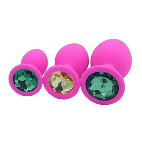 3 pcs / setzen jeweled silikon - butt plugs - trainer spielzeug, 3 größen