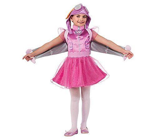 Kinder Jungen Mädchen Offiziell Paw Patrol Cartoon Tier Buch Tag Woche Verkleidung Kleid Kostüm Outfit - Pink (Skye), 1-2 ()