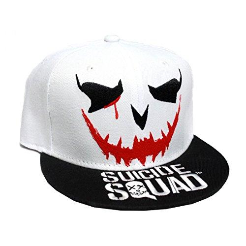 Suicide Squad Baseball Kappe Joker Smile neu offiziell DC Comics weiß Snapback Einheitsgröße
