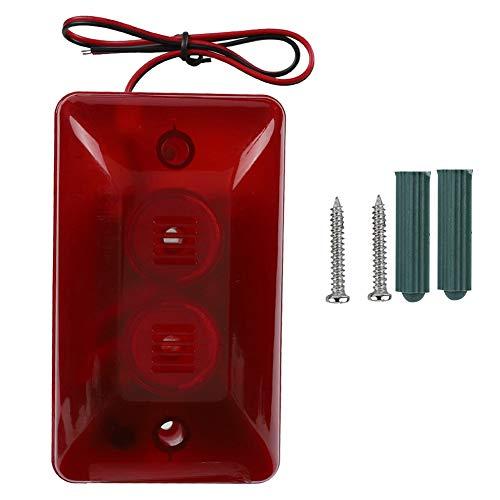 Oumij Wired Strobe Sirene 120 dB 12 V DC 500 mA ABS-Kunststoff Feuerfestes Material Wired Strobe Sirene Haussicherungssystem Sicher und stabil Kompakt und tragbar Flash-dc Strobe