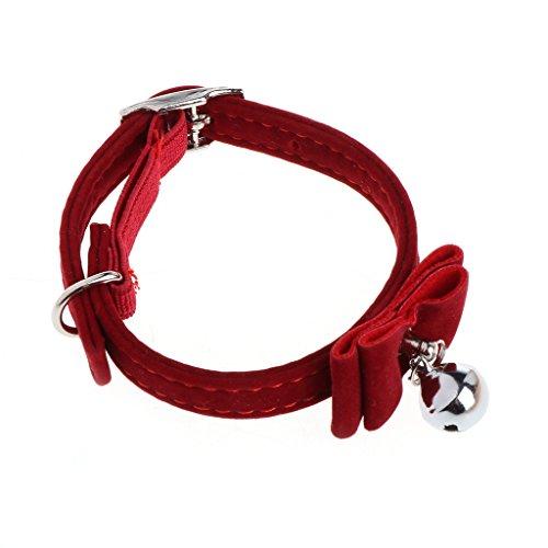 Kathope Sicherheit Elastic Bowtie Mit Glocke Kleine Hund Katze Kragen Sicher Weichem Samt Haustier Produkte Hundehalsband