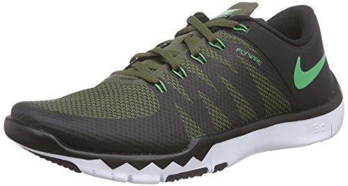 Nike Freetrainer 5.0 V6, Chaussures Multisport Indoor Homme noir / Vert / Blanc (Black / Sprng Leaf-Mlt Grn-Blanc)