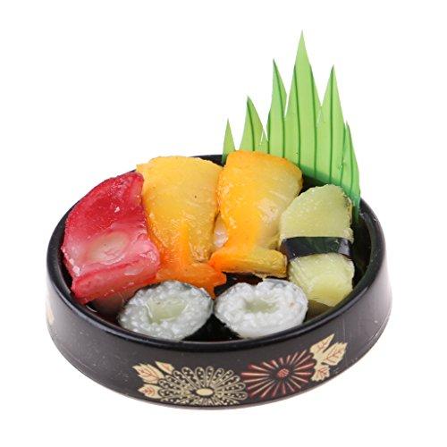 D DOLITY Miniatur Küche Japanische Essen Sushi Lebensmittel für Puppenstube Esszimmer Deko Zubehör - # A Mini Sushi
