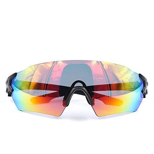 Hnks Fahrradbrille Radfahren Brille Fahrrad Farbwechsel Brille Männer Und Frauen Professionelle Fahrrad Sonnenbrille Leichte Fahrrad Wrap Brille UV400 Ultraleichtes Rahmendesign für Männer und Frauen