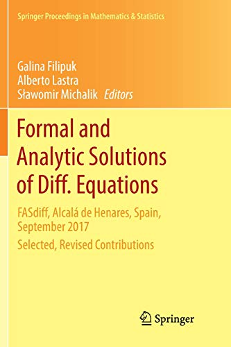 competitive price 921e1 a537e Formal and Analytic Solutions of Diff. Equations  FASdiff, Alcalá de  Henares, Spain