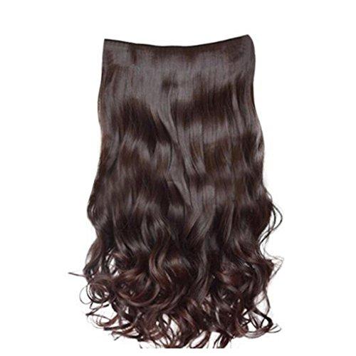 (Tianya 1x 5Clip Fashion Hair Stück Gelockt Pretty Woman Girl Gelockt Perücke Haar)