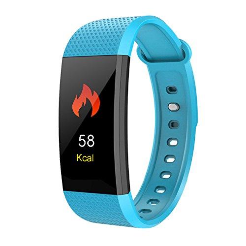 LRWEY Fitness Armband mit Pulsmesser, Smart Watch Sport Fitness Aktivität Herzfrequenz Tracker Blutdruckuhr, für iOS Android Handy