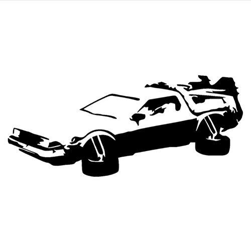 (ZHUWall Hotmeini Auto Aufkleber JDM Styling Fenster Bumper Truck Körper Aufkleber Delorean Zurück In Die Zukunft Marty Mcfly Doc Brown Decor 19X8.2Cm)