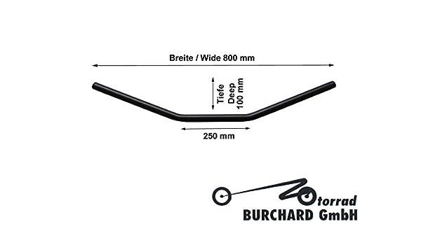 Lenker Drag Style 80cm breit Cruiser//schwarz T/ÜV 1 Motorrad Chopper