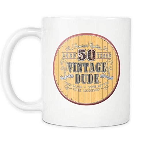 Andrea1Oliver 50. Becher 1968 Geburtstag Geschenkidee f¨¹r Papa Drehen 50 Vintage Dude Neuheit Kaffeetasse Teetasse 50. Geburtstag Becher