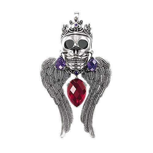 Anhänger Totenkopf 925 Silber Modeschmuck Halskette Zubehör Geschenk für Damen Herren - Paracord Jade