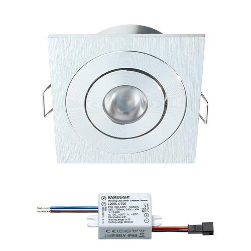Spot LED encastrable CREE Lux | Leuchten/Plafonnier/plafond Spot Plafonnier spot/encastrés spots encastrables/lumineux encastrés | 3 W/Carré/DIMM Bar/orientable/plat/230 V/IP44/Blanc Chaud