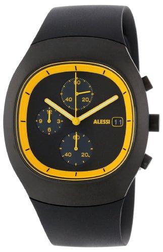 Alessi - AL21011 - Montre Mixte - Automatique - Chronographe - Bracelet Plastique Argent