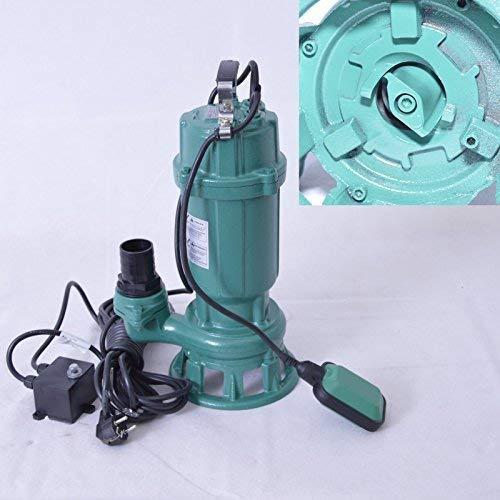 !! Profi !! Fäkalienpumpe Tauchpumpe Schmutzwasserpumpe mit Schneidwerk 0,55 kW Anschluß Druckseite 2