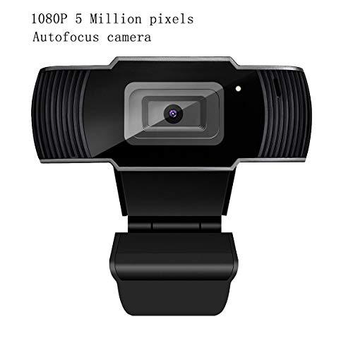 Aingol Computer Camera, HD Webcam 5MP USB 1080P PC Kamera mit Mikrofon-Auto-Focus Clip-on-Netzwerkkamera für Video-Calling Recording, MSN, Video-Konferenz