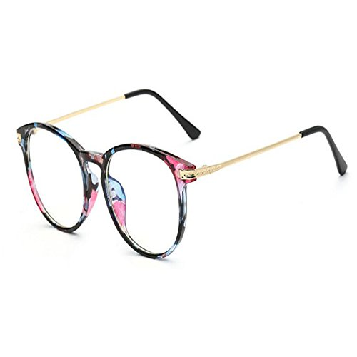 Xinvivion Blau Licht Filter Computer Brille - Frau Männer Anti Strahlung UV Klar Linse Jahrgang Runden Brillen Sicherheit Goggle