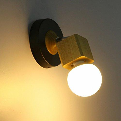 Industrielle Abluftventilator (Einfache Kreative Holz Wand Lampe Warmes Schlafzimmer Nachttisch Lampe Korridor Balkon Wohnzimmer Lichter Gang Eingang Lichter,EIN)