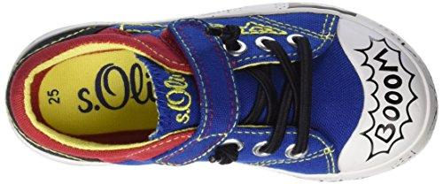 s.Oliver 33104, Scarpe da Ginnastica Basse Bambino Blu (ROYAL BLUE COM 596)