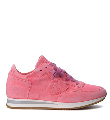 df8d908288 Philippe Model Sneaker Tropez in Camoscio Fucsia Rosa ...