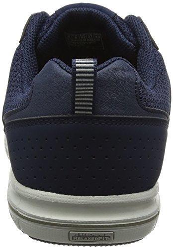 Skechers Arcade Ii Magavin, Baskets Basses Homme Bleu - Blue (Navy Grey - Navy Grey)