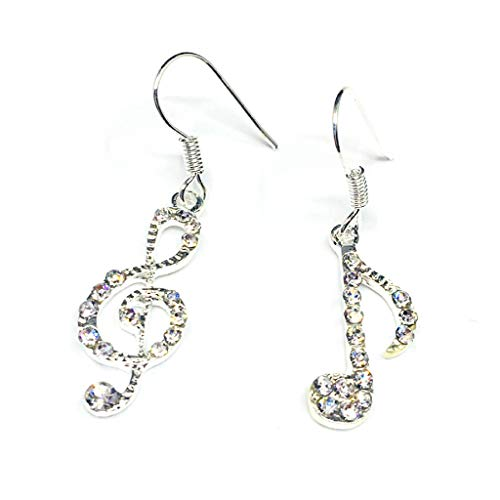 Ruda 1 Paar Note-Ohrringe, Vintage-Musik-Form, luxuriöse, unregelmäßige Ohrstecker, natürliche Münze, Schmuck, Accessoire, Geschenk für Frauen und Mädchen