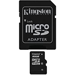 Kingston micro Secure Digital High Capacity (SDHC) Card 16GB Speicherkarte (Retailverpackung)