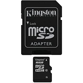 Kingston SDC10/16GB - Tarjeta microSD de 16 GB (clase 10, UHS-I, adaptador SD), negro