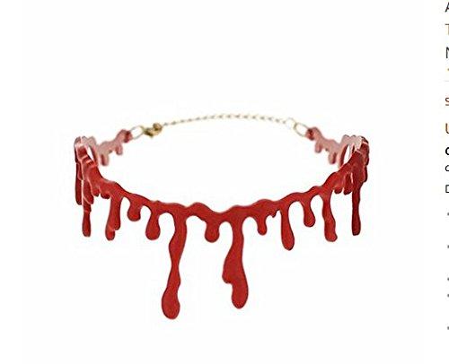 Lavillede Kreativer blutiger Schnitt Blutnarbenhalsketten-Modetrendhalskette Halloweens Halloween