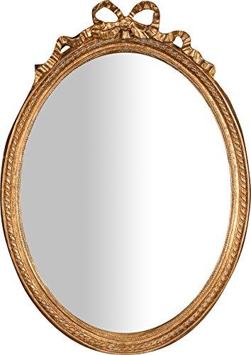 Biscottini Specchio Specchiera da appendere 36x3x50 cm In resina finitura oro anticato