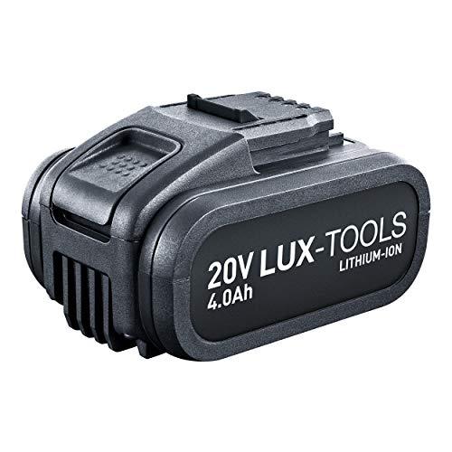 LUX-TOOLS AK-20Li/4,0 Ersatzakku mit Lithium-Ionen Technologie für alle Maschinen der LUX-TOOLS 20V Power Series | 20V Li-Ion Akku mit 4,0Ah